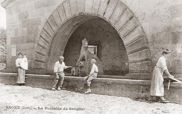 fontaine sanglier